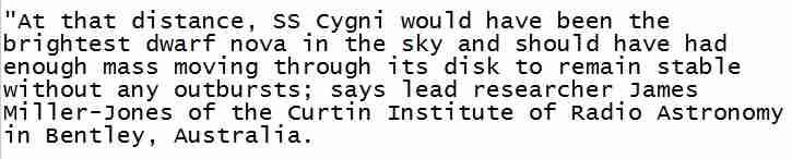 SS Cygni text