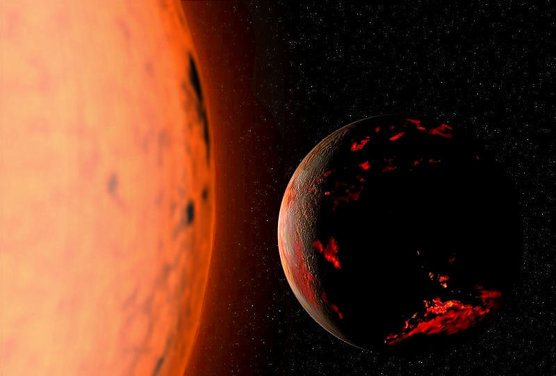 Earth scorched by red giant Sun