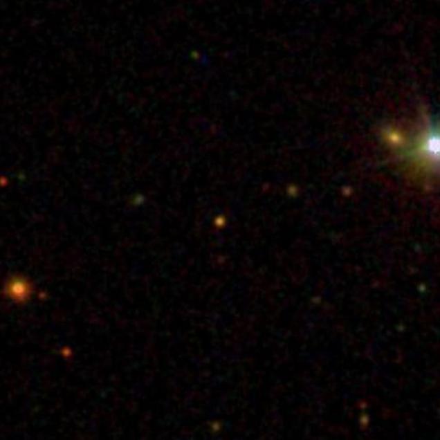 ULAS J0744+25 at the center.