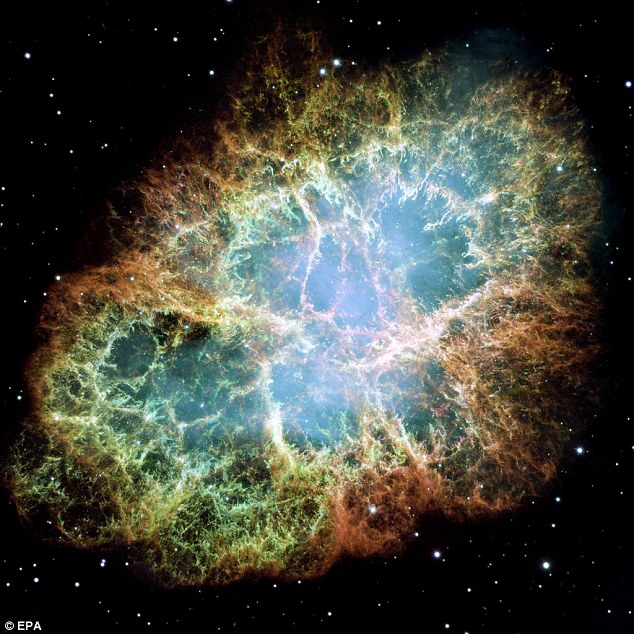 The so-called Crab Nebula emerged about 1,000 years ago through a star's supernova explosion: Researchers have found extraterrestrial dust at the bottom of the Earth's ocean and say it could help explain the phenomenon.