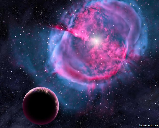"""Artist's impression of exoplanet Artist's impression: Kepler has identified many exoplanets but few are within their star's """"Goldilocks zone"""""""