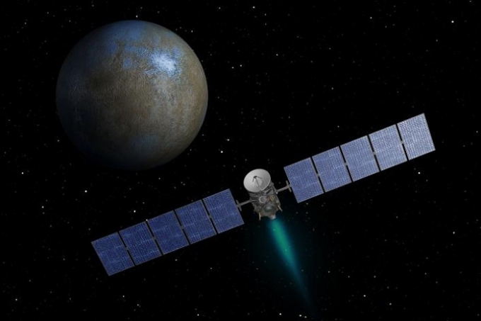 NASA's Dawn spacecraft has officially entered its approach phase toward the dwarf planet, Ceres. This artist's concept shows NASA's Dawn spacecraft heading toward the dwarf planet Ceres. (Photo : NASA/JPL-Caltech)
