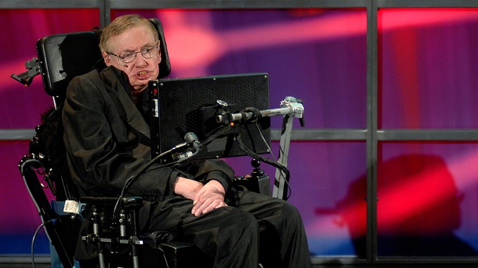 Stephen Hawking said human aggression 'threatens to destroy us all' Credit: Reuters