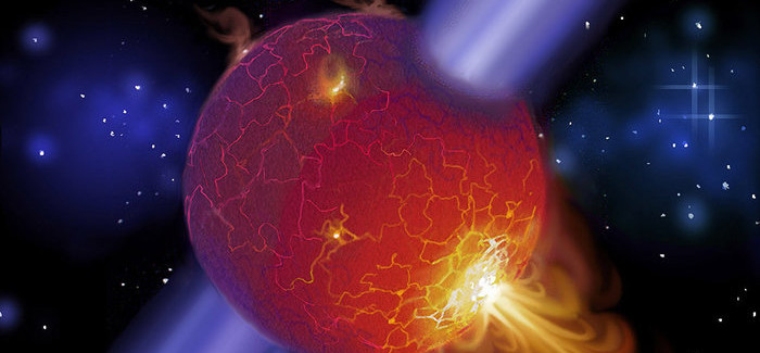 A Fast-Moving Pulsar Rips Hole Through Companion Star's Disk