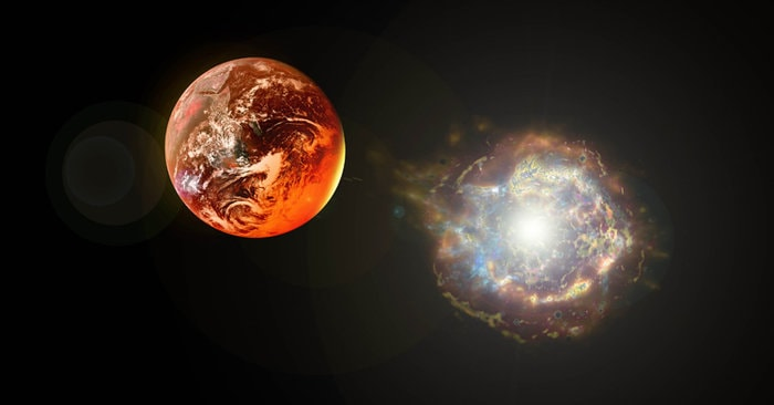 Mars Atmosphere stripped away by a nearby supernovae