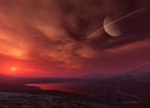 Titan And Earth