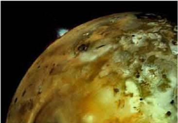 Volcanic Eruptions On Io: A massive plume rose from lois limb when Voyager 1 flew by in 1979