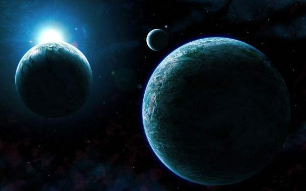 Artistic illustration of KOI-500 xxoplanets system