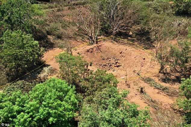 The explosion hit woodland in Managua in Nicaragua on Saturday