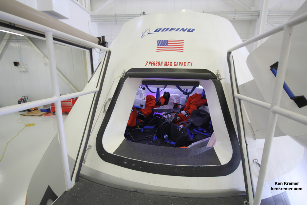 atch opening to Boeing's commercial CST-100 crew transporter
