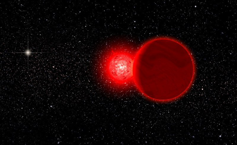 """A star now speeding away from us once came within less than a light year of our solar system, a cosmic """"close shave,"""" astronomer say. Near fly-by took place 70,000 years ago. (Photo : Michael Osadciw/University of Rochester)"""