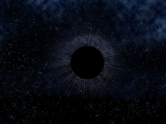 Scientists of Harvard University observed a group of star similar to football. They noticed that a strange dark matter is emerging from the black hole.