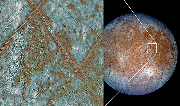 Ice Crust In Europa